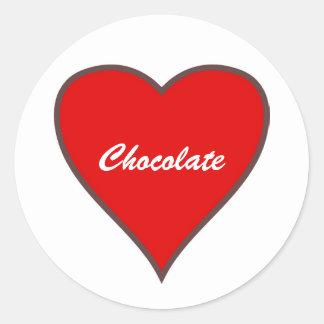 Red Heart, Chocolate Sticker