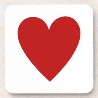 Red Heart Beverage Coaster