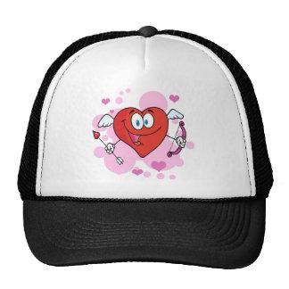 Red Heart Cute Cupid Cap