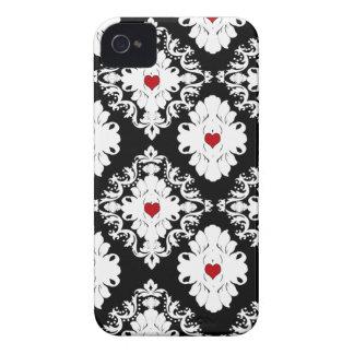 Red heart damask stylish pattern blackberry bold blackberry bold case