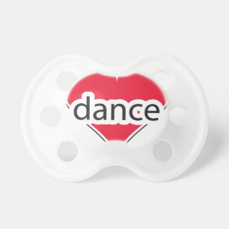 Red Heart Dance Baby Pacifiers