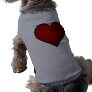 Red Heart Dog T Shirt
