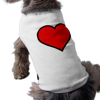 Red Heart Dog Tee