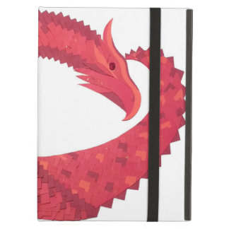 Red heart dragon on white iPad air cover