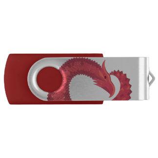 Red heart dragon USB flash drive