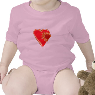Red Heart Explosion Infant Creeper