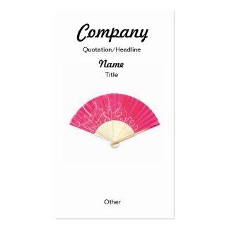 Red Heart Fan Custom Earrings/Business Card Pack Of Standard Business Cards