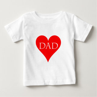 Red heart father's day gift tee shirt