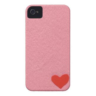 Red heart (felt wind) Case-Mate iPhone 4 case