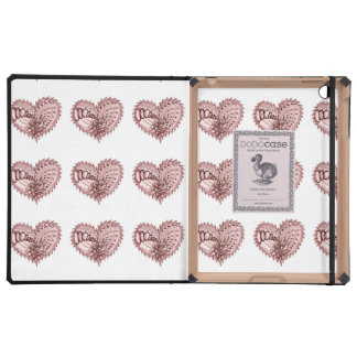 Red Heart Fire Doodle iPad Case