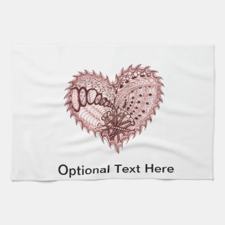 Red Heart Fire Doodle Kitchen Towels
