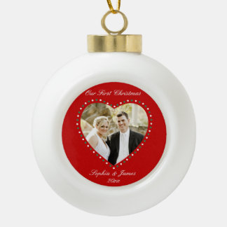 Red Heart First Christmas Together Ornament Ball