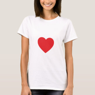 Red Heart Fitted White Tee Shirt