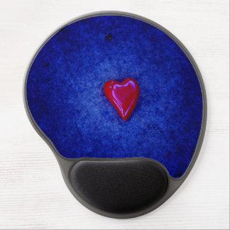 Red heart gel mousepad