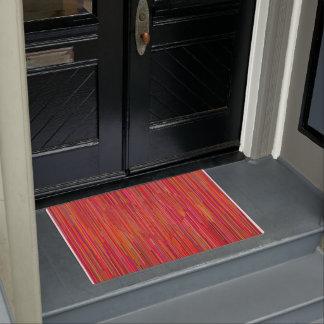 Red heart. Geometric style door mat