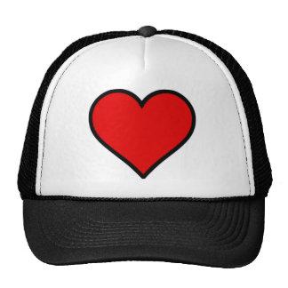 Red Heart Trucker Hats