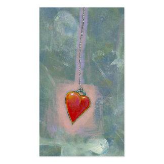 Red heart human condition expressive modern art business card templates