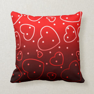 Red Heart Imprint Pattern Throw Pillow Throw Cushions