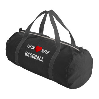 Red Heart in Love + your backgr. & ideas Gym Duffel Bag
