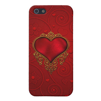 Red Heart iPhone 5/5S Case
