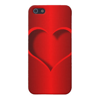 red heart cover for iPhone 5