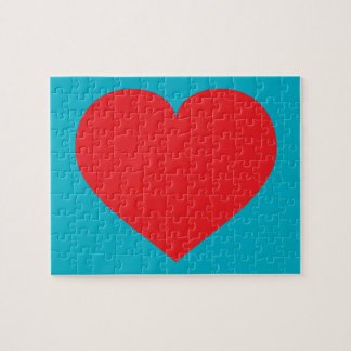 Red heart jigsaw puzzle
