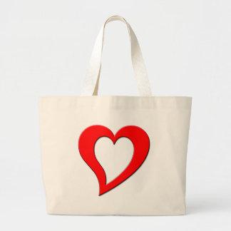 red heart jumbo tote bag