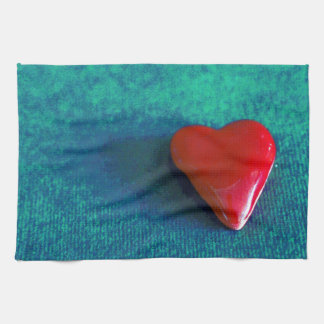 red heart kitchen towels