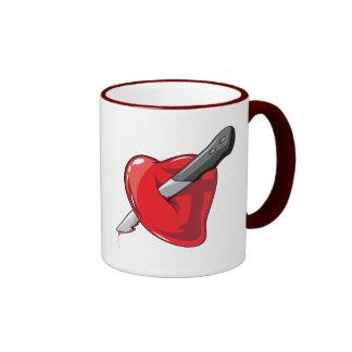 Red Heart Knife In Hearts Love Coffee Mug