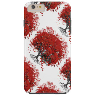 Red Heart Leaf Tree Tough iPhone 6 Plus Case
