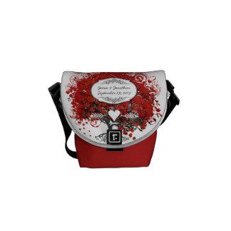Red Heart Leaf Tree Courier Bag