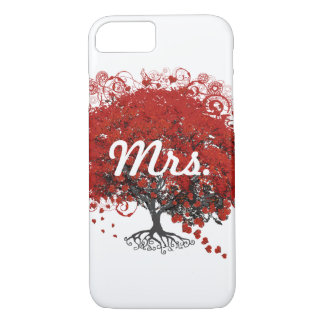 Red Heart Leaf Tree iPhone 7 Case