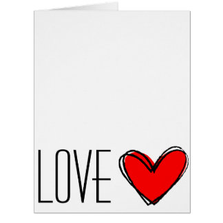 Red Heart LOVE Big Greeting Card
