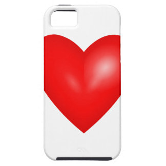 Red heart love case for iPhone 5/5S