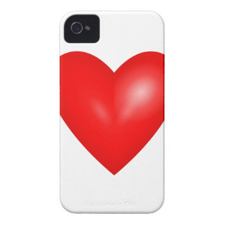 Red heart love iPhone 4 cases