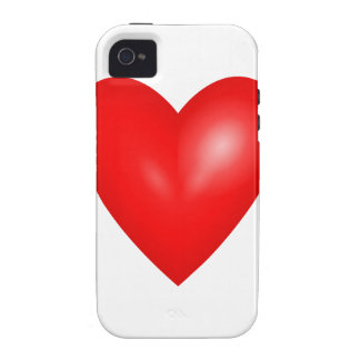 Red heart love iPhone4 case