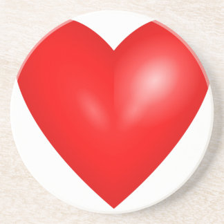 Red heart love coasters