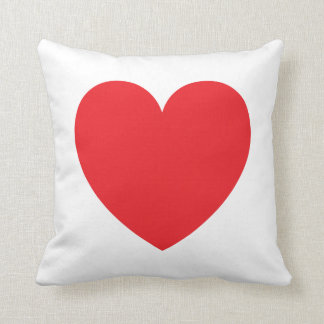 Red heart love custom pillow