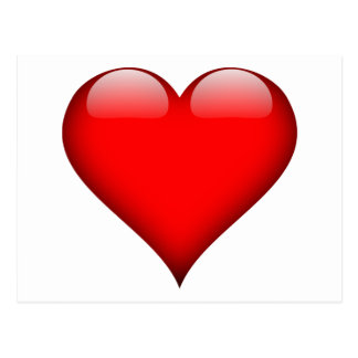 Red Heart Love Postcard