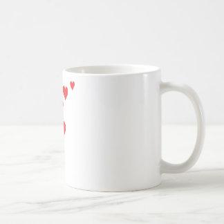 Red Heart Love Rain - Valentine�s Day Coffee Mug