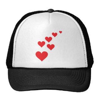 Red Heart Love Rain - Valentine�s Day Hat