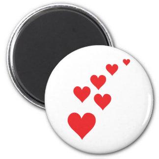 Red Heart Love Rain - Valentine�s Day Fridge Magnets