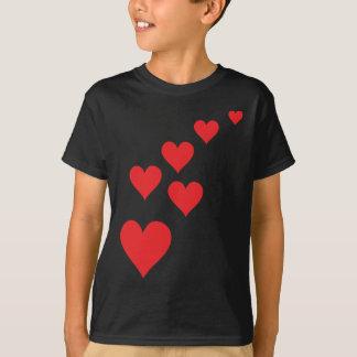 Red Heart Love Rain - Valentine�s Day T-Shirt