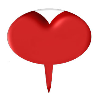 Red Heart Love  Romantic Puffy Heart 3D Cake Topper