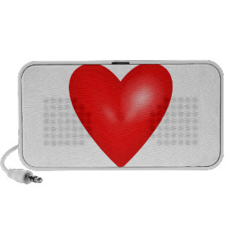Red heart love iPhone speakers