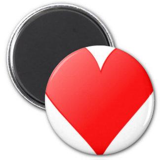 Red Heart Refrigerator Magnet