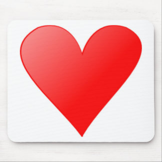 Red Heart Mousepad