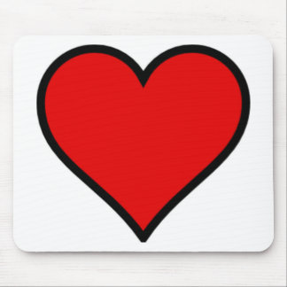 Red Heart Mousepads