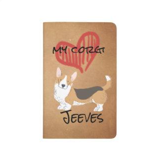 Red Heart My Cardigan Welsh Corgi Journal