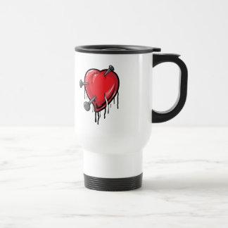 Red Heart Nails Love Hearts Mug